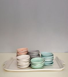 Wundervolle Teller in Pastell