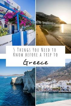 This post goes through 5 things you need to know before going on a trip to Greece including details about getting between islands and how long to spend in Athens! #Greece #VisitGreece #Greece TravelTips Greece Itinerary, Greece Destinations, Places In Greece, Amazing Destinations, Vacation Days, Greece Vacation, Greece Travel, Europe Travel Guide, Travel Guides