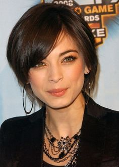 I think Kristin Kreuk looks good with any hair.. but especially short and simple like this! :beautifulpromhairstyles.com: