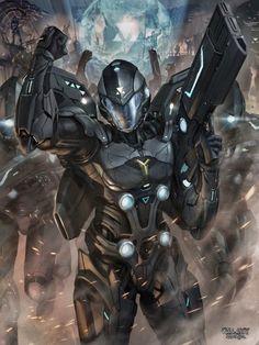 Hot Concept Art by Chris Ng (Galaxy Saga) Character Concept, Character Art, Character Inspiration, Daily Inspiration, Armor Concept, Concept Art, Galaxy Saga, Armadura Sci Fi, Nail Bat