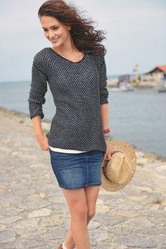 Pull résille à tricoter