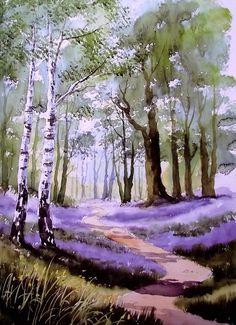 Paisaje con árboles de Terry Harrison