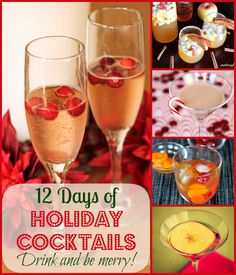 12 Days of Holiday Cocktails - Make your holidays a little extra merry with these delicious cocktail recipes!