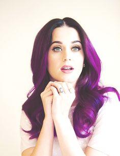 Katy with purple hair!