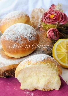 Donuts with lemon easy to vickyart recipe oven art in the kitchen Easy Baking Recipes, Lemon Recipes, Sweets Recipes, Cooking Recipes, Baked Breakfast Recipes, Breakfast Bake, Italian Pastries, Sweet Cooking, International Recipes