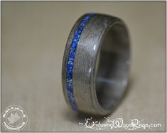 Mens Wood Wedding Band – Gray Maple & Lapis Lazuli A wooden ring made from Grey Maple, with an offset Lapis Lazuli inlay. Made to your required size and width. For reference, the pictured ring Mens Wood Wedding Bands, Wedding Men, Trendy Wedding, Wedding Ideas, Wedding Pictures, Wedding Inspiration, Diy Wedding, Wedding Stuff, Wedding Planning