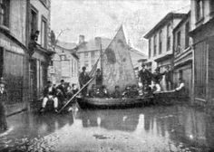 Flooding in the streets of Northwich, Cheshire, England c1898