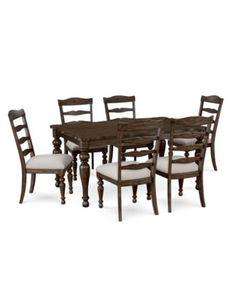 CLOSEOUT Hamilton Expandable Dining Furniture 7 Pc Set Dining