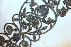 Shabby Decor Rose Pattern Spring Decor Wrought by TattedPicker,