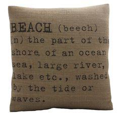 Beach Pillow Cover. $38.00, via Etsy.