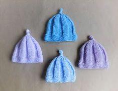 Three sizes - newborn, large premature, medium premature...... inspired by Scottish Harebells. Harebell Baby Hats Sco...