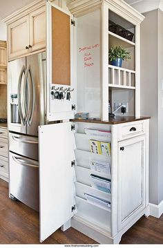 What a clever cabinet/command center/mail and paperwork station this is!