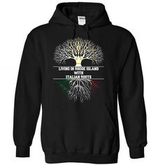Living in RHODE-ISLAND with Italian roots - #oversized shirt #tshirt upcycle. CHEAP PRICE => https://www.sunfrog.com/LifeStyle/Living-in-RHODE-ISLAND-with-Italian-roots-Black-Hoodie.html?68278