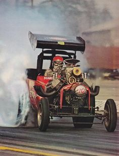 Vintage Reproduction Racing Poster Wild Willie Borsch Fuel Altered - Fitness and Exercises, Outdoor Sport and Winter Sport Nhra Drag Racing, Auto Racing, Rat Rods, Dragster, Volkswagen, Old Race Cars, Vintage Race Car, Drag Cars, Car Humor