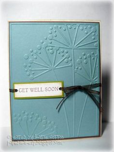 Simple get well card