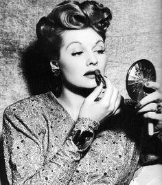 Lucy + lipstick