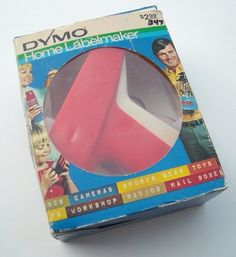 Do you remember when these first became popular? We had these labels all over our house in the 70s!    This is an orange Dymo Home Labelmaker