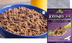 Just like our Original Ezekiel Cereal with organic raisins and cinnamon. Makes an excellet cereal, hot or cold. Vegan Fast Food, Vegan Snacks, Cereal Recipes, Dog Food Recipes, Diet Recipes, Vegan Recipes, Ezekiel Cereal, Healthy Cereal, Cereal Food
