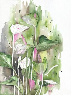 This is such a delicate and beautiful watercolour painting. Very beautiful .