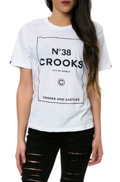 b9730bb9d9c Crooks and Castles The City of Angels Tee in White Crooks And Castles