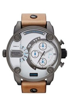 Men's watches, Leather strap watch and Chronograph on Pinterest