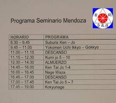 Aikido  Mendoza Iwama : Programa seminario!!!