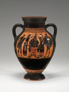 Property of the Virginia Museum of Fine Arts | Black-figured Amphora: Birth of Athena out of Zeus' head | 540 BC | unknown artist | terracotta