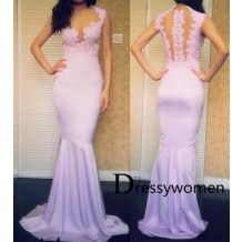 New Arrival Sexy Lavender Mermaid Evening Gown / Prom Dress with Appliques SAPD-90018