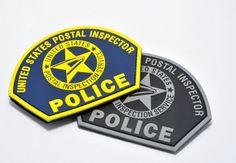 USPS Postal Inspector Police PVC Patches - Set