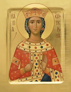 We will paint an icon of St Catherine to order using tempera or acrylic paints. Expert icon painters of St Elisabeth Convent Saint Catherine Of Alexandria, Sainte Cecile, Paint Icon, Byzantine Icons, Orthodox Icons, Christian Art, Religious Art, Medium Art, Sculptures