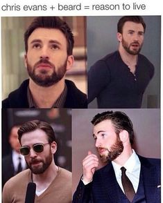 Reason to live=Chris Evans<<<just described my life purpose Chris Evans Beard, Robert Evans, Capitan America Chris Evans, Chris Evans Captain America, Capt America, Christopher Evans, Steve Rogers, Hemsworth, Gorgeous Men