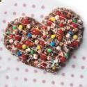 Chocolate Heart Pizza-fun for kids to decorate