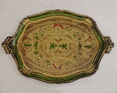 Authentic Florentine Gilded Oval Tray with by LaMachineaBrocantes #vogueteam #serveware