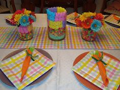 Table is ready with bright Spring colors!