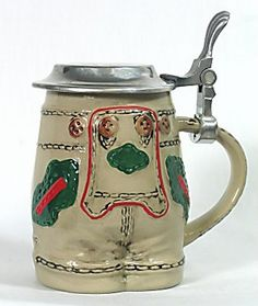 DN Beer Stein with Lid Lederhosen 5""