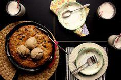 BANANA, WALNUT & CHOCOLATE COOKIE CAKE | via Joy the Baker