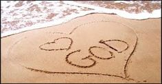 ♥ God, this is perfect! Every time im at the beach, esp. crystal blue water, I am in awe of his beauty.