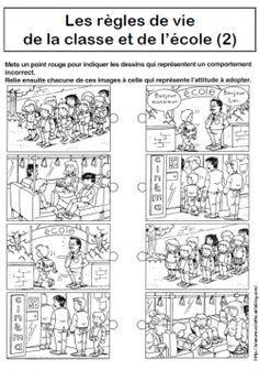 Règles de vie de la classe et de l'école