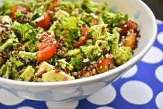 Quinoa Broccoli Salad (blog has English directions in addition to Spanish--keep scrolling)
