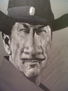 """Richard Boone .. Paladin from """"Have Gun Will Travel""""  (by Damion Dunn)"""