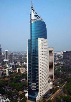 近代的な建築として有名なウィスマ。ジャカルタ 観光・旅行のおすすめスポット!