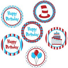 free dr. suess printables | dr suess inspired printable 4 inch circles you ll receive the dr suess ... Dr Seuss Birthday Party, Baby Birthday, Dr Seuss Printables, Cat In The Hat Party, Dr Seuss Crafts, Grinch Party, Twin First Birthday, Baby Clip Art, Bottle Cap Images