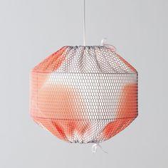 Lampe suspension SWARM en toile nid d'abeille - COLONEL