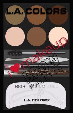 LA Colors I Love Makeup Brow Palette