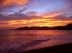 Sky on Fire! Taken from Playa Azul, Manzanillo, Mexico.  http://thc-solutions.com/renta-vacacional-manzanillo-colima/la-casa-azul/english