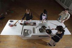 Modern Space Saving Mini Kitchen from Ensci