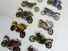 Motorbike Stickers for Kids, Children. For Party Bags, Craft, Decoration HM01 in Crafts, Cardmaking & Scrapbooking, Stickers | eBay