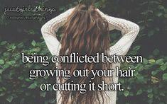 Always like thisss! When ut long, i wanna short. But when short, i wanna hair grew fast