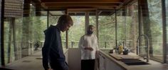 Ex Machina: jaw-dropping architecture, stunning design and now a BIFA winner - Film and Furniture Ex Machina House, Teal Lamp, Newport House, Best Screenplay, Steel Dining Table, Contemporary Side Tables, Copper Lighting, Forest House, Film Aesthetic