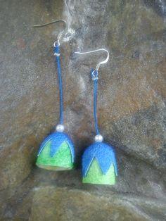 handmade silk cocoons earrings No67